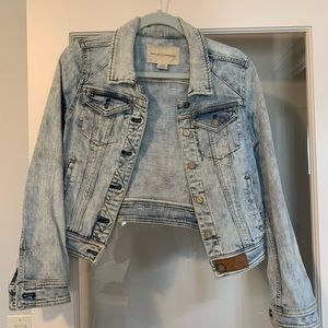 Cropped acid-wash jean jacket from anthropologie